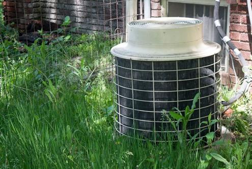 debris around air conditioner